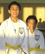The first promotions at the newest Encino Judo Club class at the Camarillo YMCA led by Mark Herrschaft