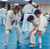 Personalized instruction from Eileen Hagen, 2nd degree black belt.